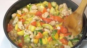 Chicken Squash Tomatoes Italian Pasta