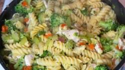 Hot or Cold Chicken Pasta Salad Dish