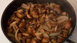 Mushrooms & Onions Sauteed in Butter Step By Step Chef